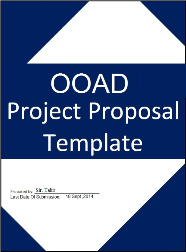 Ooad Project Proposal Tamplate Bs Software Engineering